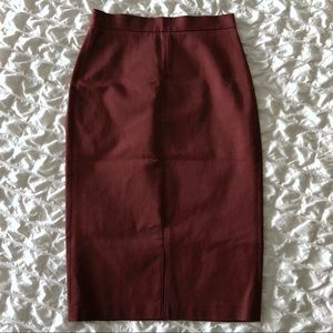 Banana Republic Sloan Fit Burgundy Pencil Skirt
